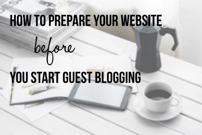 Prepare Your Website
