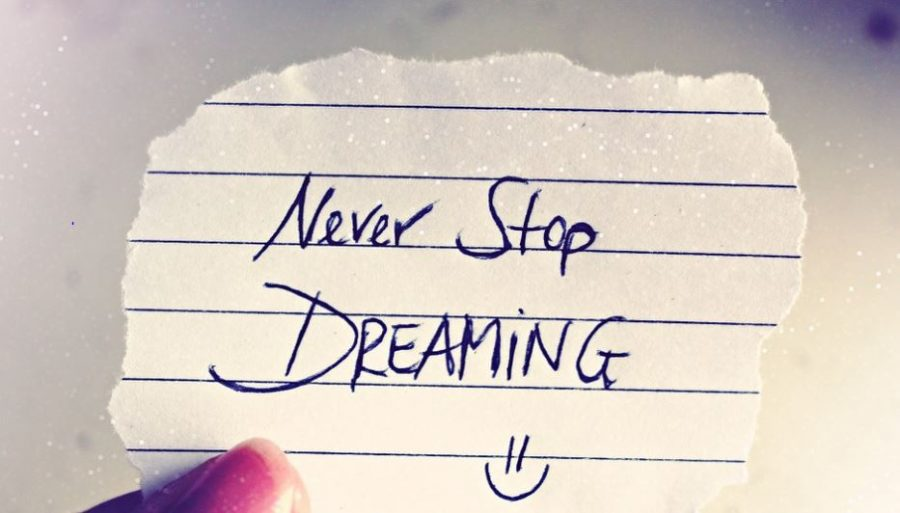 Inspirational quote - never stop dreaming